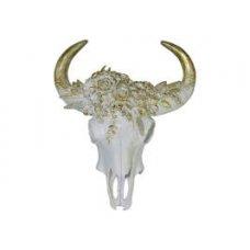 White Gold Cow Skull