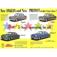 1953 Ford Range tin sign