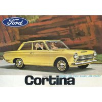 Ford Cortina Yellow tin sign