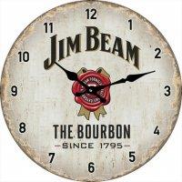Jim Beam white 30cm Clock