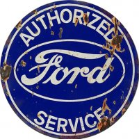 Ford Service Round Tin Sign