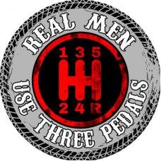 Real Men Tin Sign