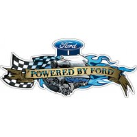 Powered by Ford Metal tin sign