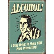 Alcohol tin sign
