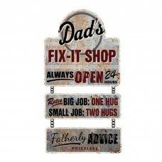 Dad;s Fix it Shop Wall Plaque