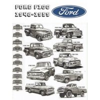 Ford F100 48-59 tin sign