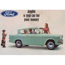 Ford Anglia tin sign