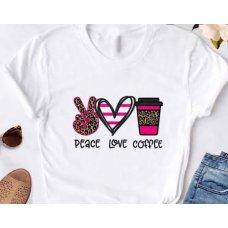 Peace, Love, Coffee Tee