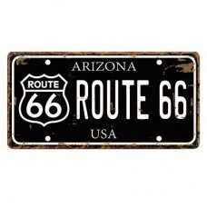 Route 66 Number Plate
