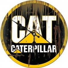 CAT Round Metal Clock