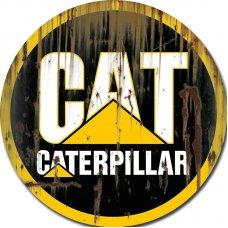 CAT Round Tin Sign