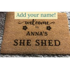 Personalised She Shed Door Mat