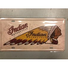 Indian Motorcycle License Plate