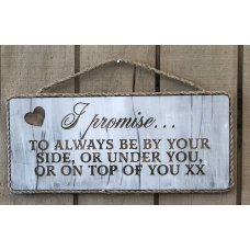 I Promise Wall plaque