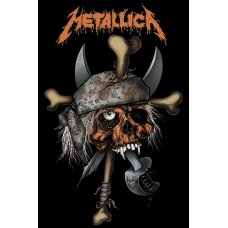 Metallica Pirate Skull Wall Canvas