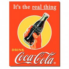 Coca Cola - It's the real thing tin sign