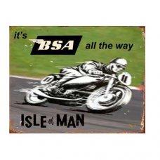 BSA Isle of Man Tin Sign