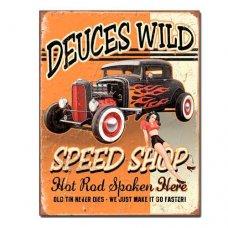 Deuces Speed Shop tin sign