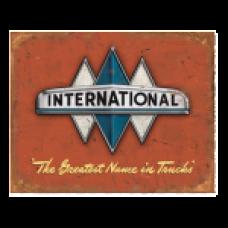 International Logo Tin SIgn