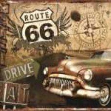 Route 66 Retro Tin SIgn