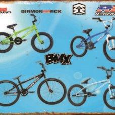 BMX Bikes TIn Sign