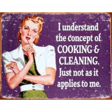 Cooking and Cleaning - Tin signs