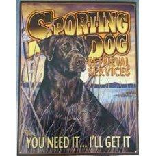 Sporting Dog tin sign