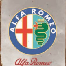 Alfa Romeo Tin Sign - Tin Signs