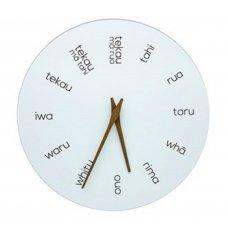 Te Reo Wooden Clock by Moana Road