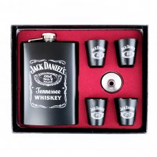 Jack Daniels Hip Flask with 4 cups