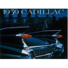 1959 Cadillac tin sign