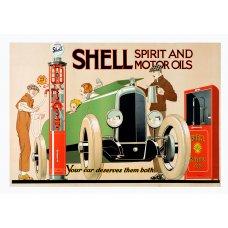 Shell Spirit tin sign
