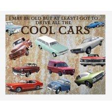 Cool Cars tin sign