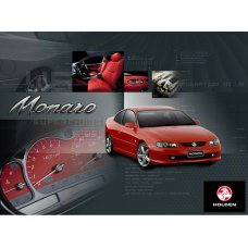 Holden Monaro Red Tin Sign