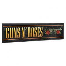 Guns n Roses Flower Bar Runner