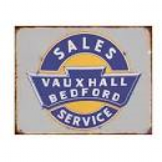 Bedford Vauxall Tin Sign - Tin Signs