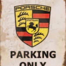 Porsche Parking Tin Sign