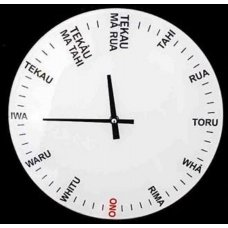 Maori Glass Clock - Moana Road