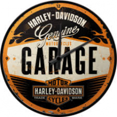 Harley Davidson Garage Wall Clock