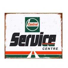 Castrol Service Tin Sign - Tin Signs