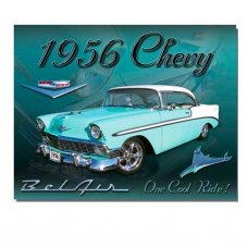 1956 Chevy Tin Sign - Tin Signs