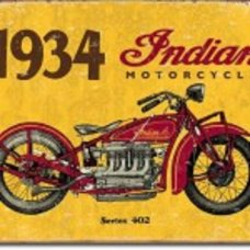 1934 Indian Metal Tin Sign - Tin Signs