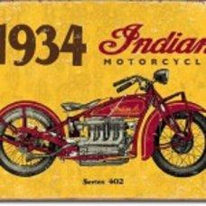 1934 Indian Metal Tin Sign - Tin Signs