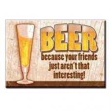 Beer Friends Tin Signs
