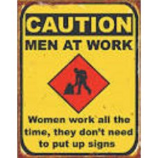 Caution Men at Work - Tin Signs