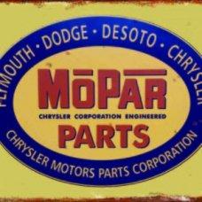 Mopar Parts Tin Sign