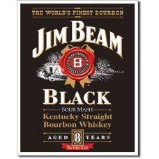 Jim Beam Black Tin Sign - TIN SIGNS