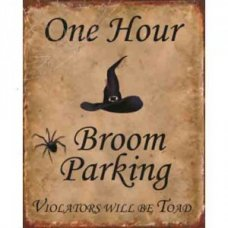 Broom Parking - Tin Signs