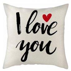 I Love You Cushion - red heart