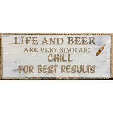 Life and Beer Wall Plaque
